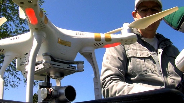 Image from the film God's Eye News: The Use of Drones in Journalism.