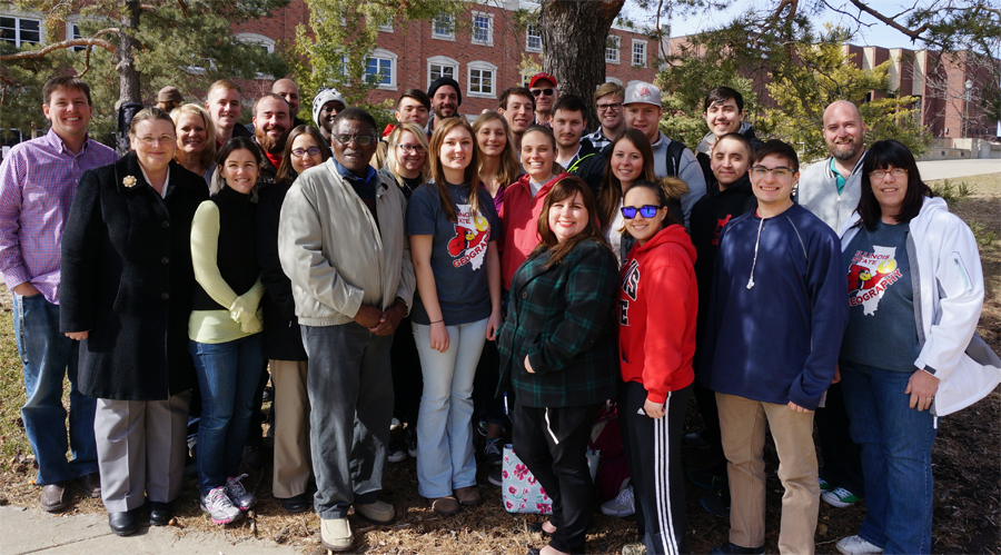 Image of members of the Illinois State geography program