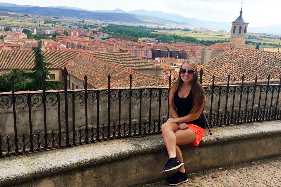 Julia Egan, a junior elementary education major studies in Spain during the summer of 2015.