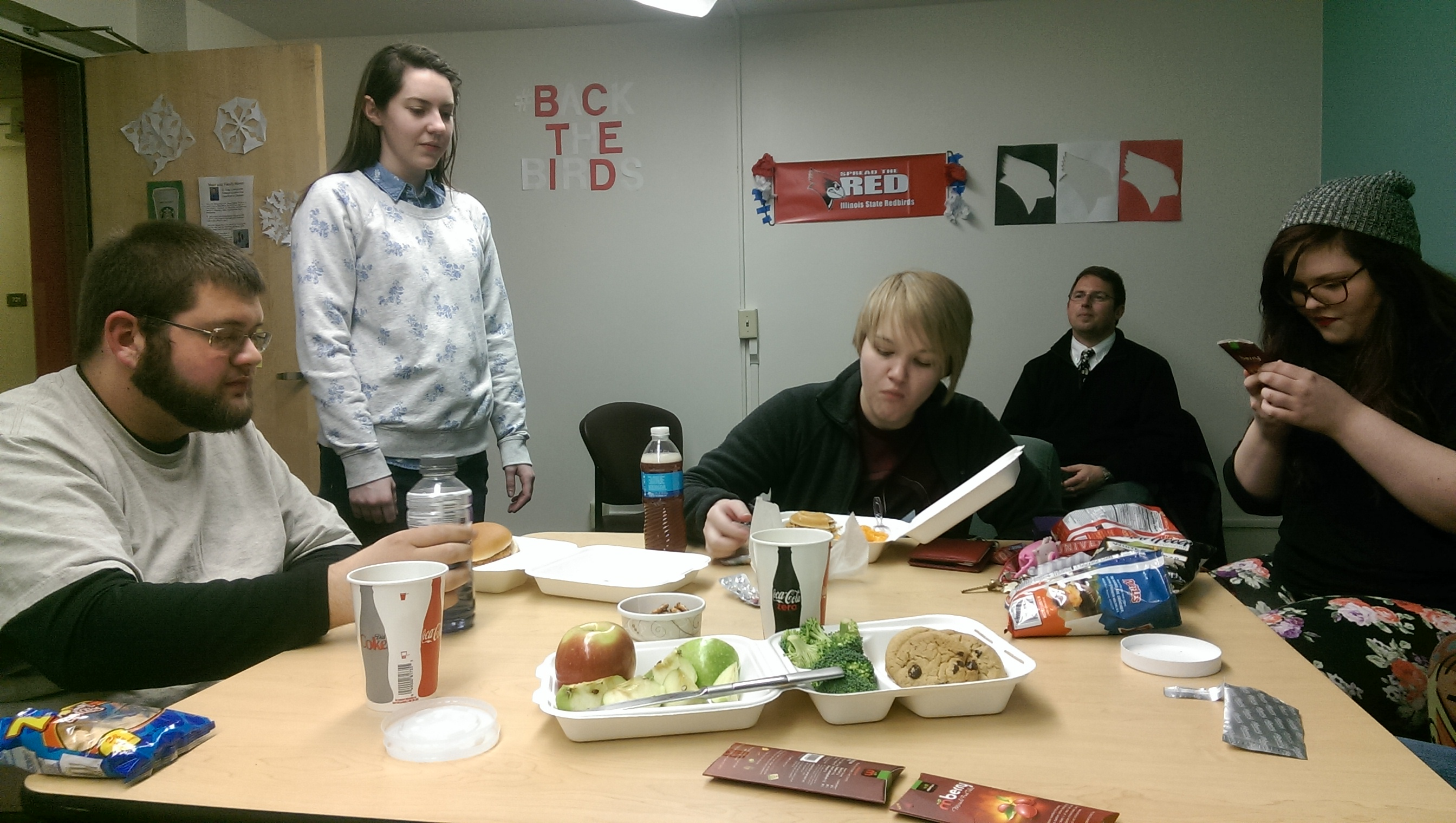 Students do taste test