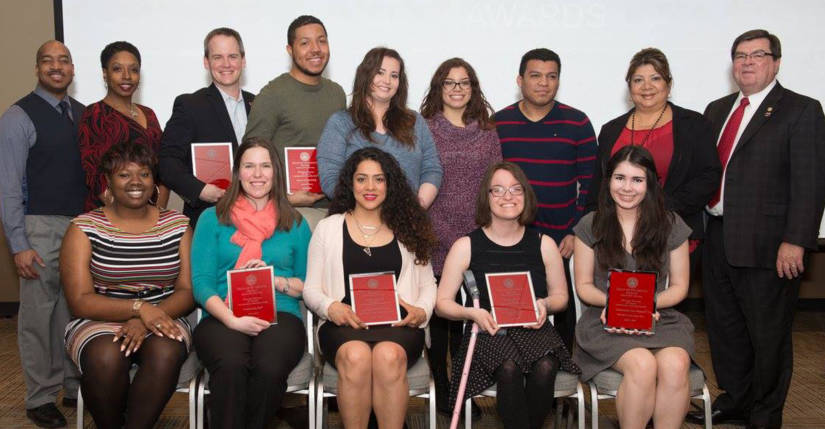 image of Those honored at the 2016 Commitment to Diversity Awards.