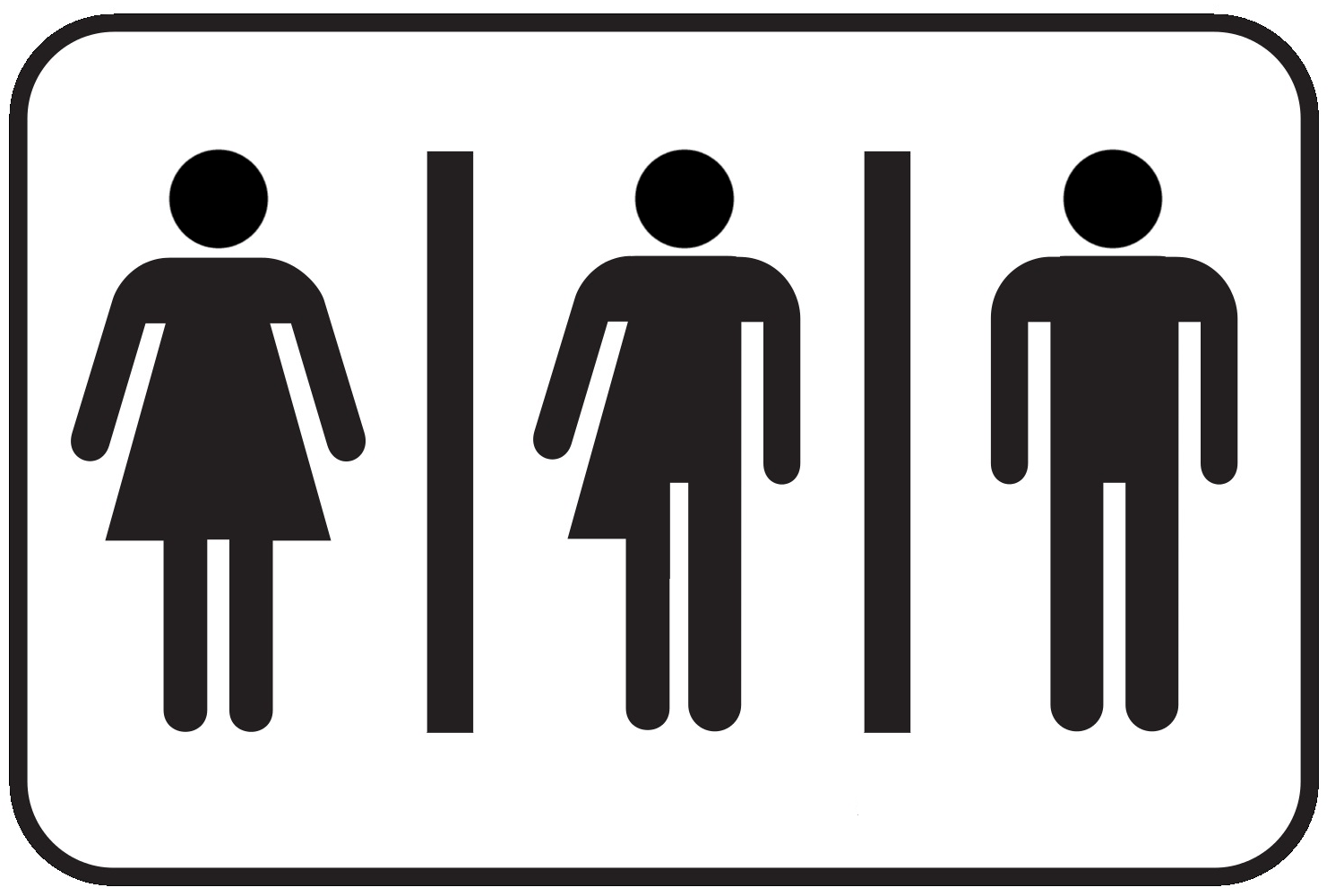 image of a Sign for a gender-neutral bathroom.