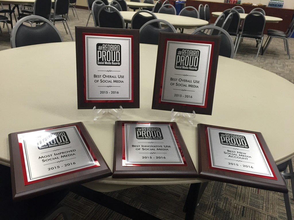 Social Media Awards plaques