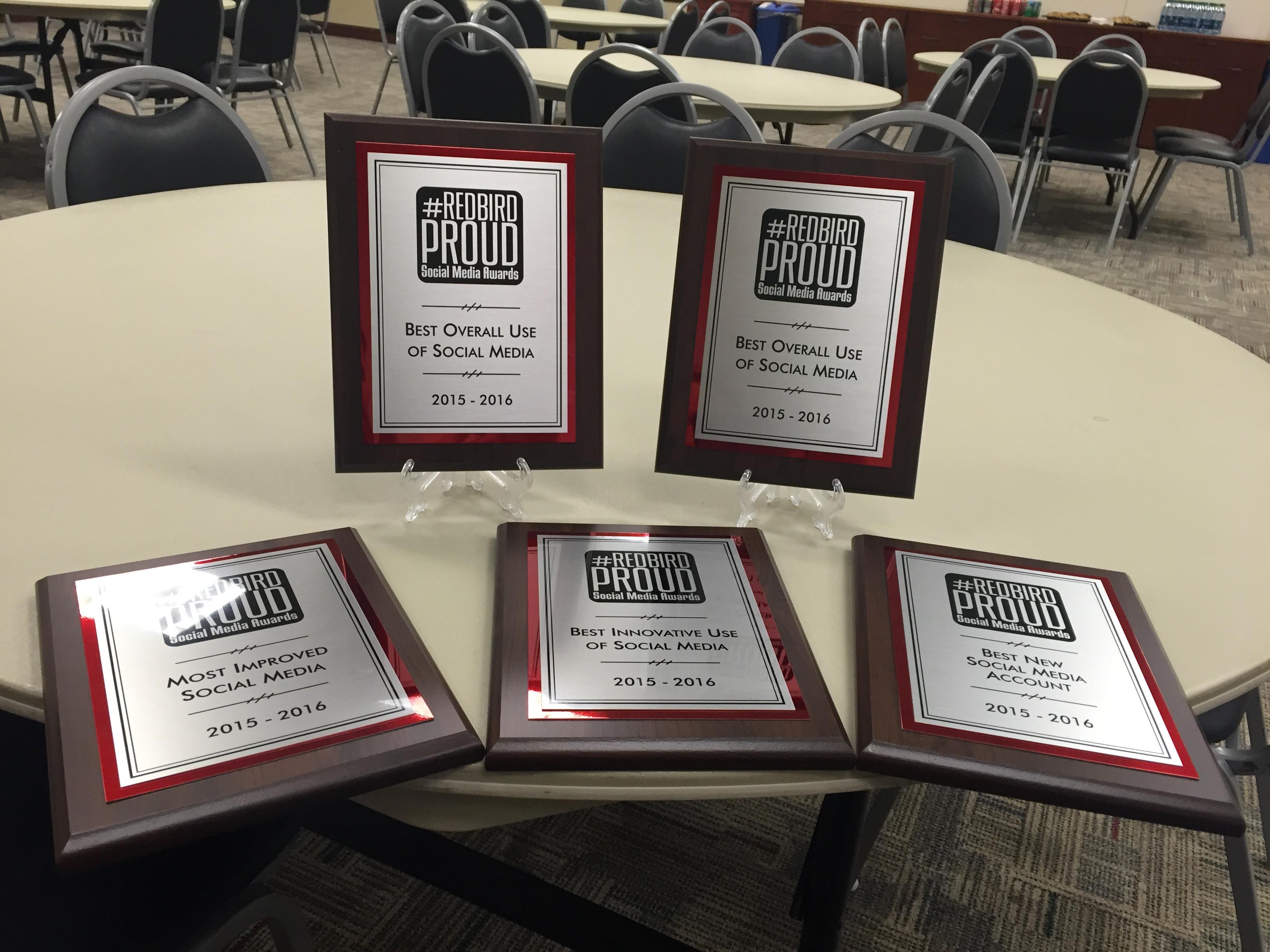 Social Media Awards plaques