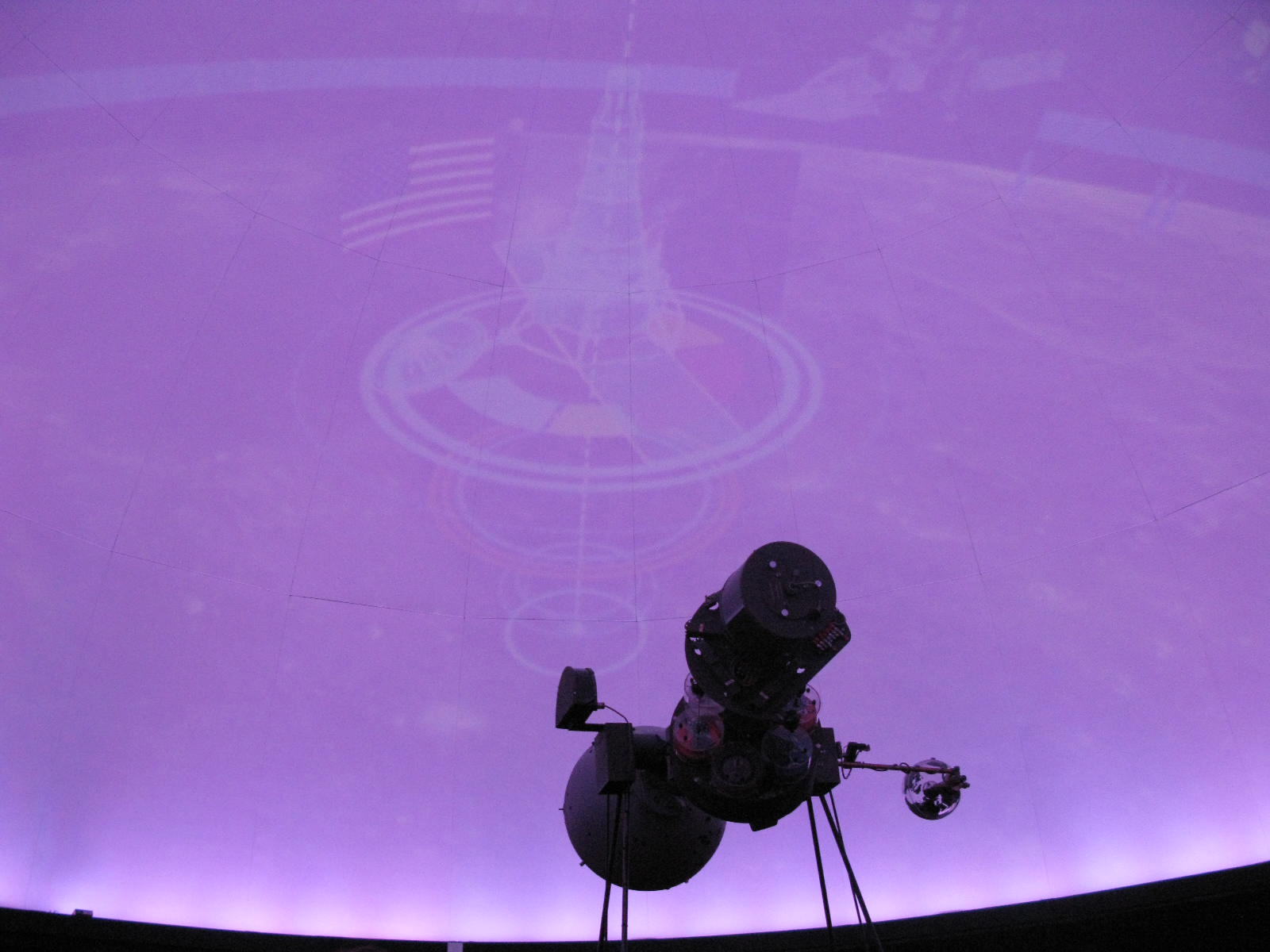 Image projected from the Illinois State University Planetarium new system.