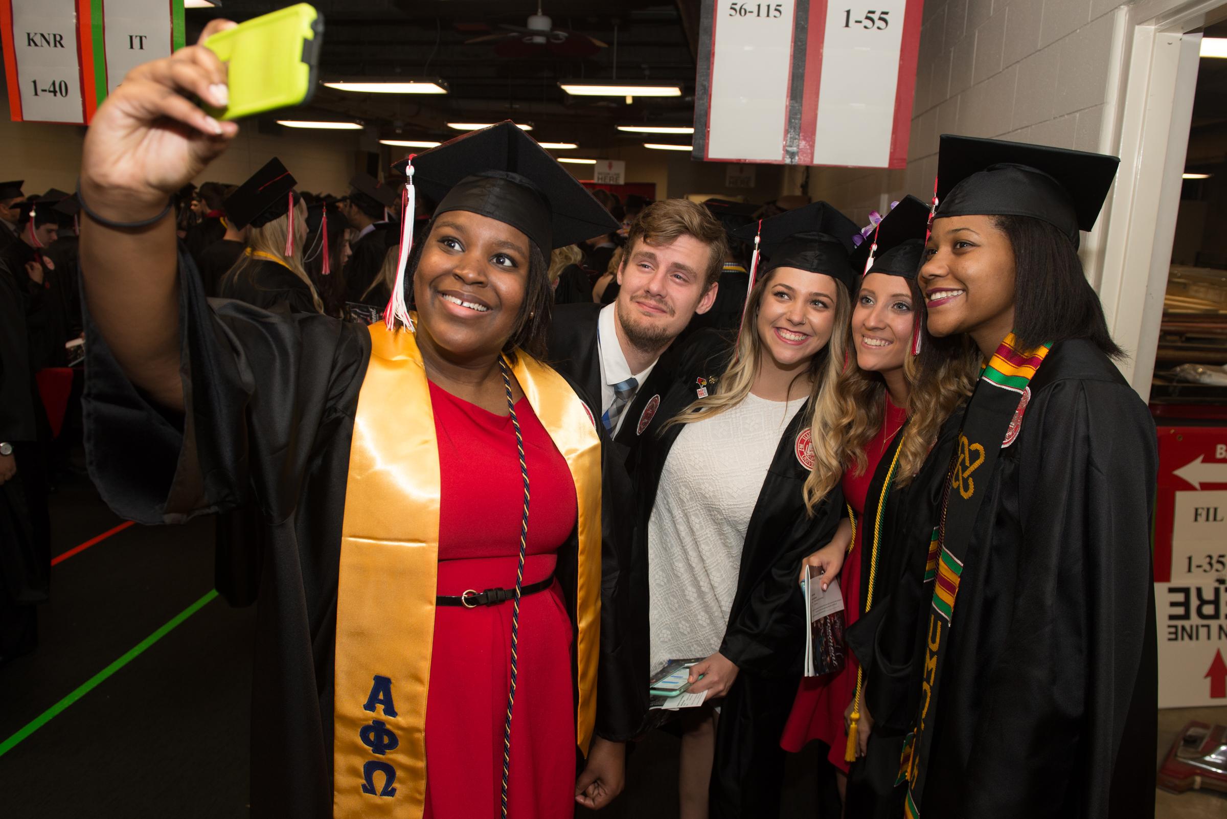 Students take a selfie