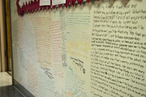 WZND wall covered in signatures