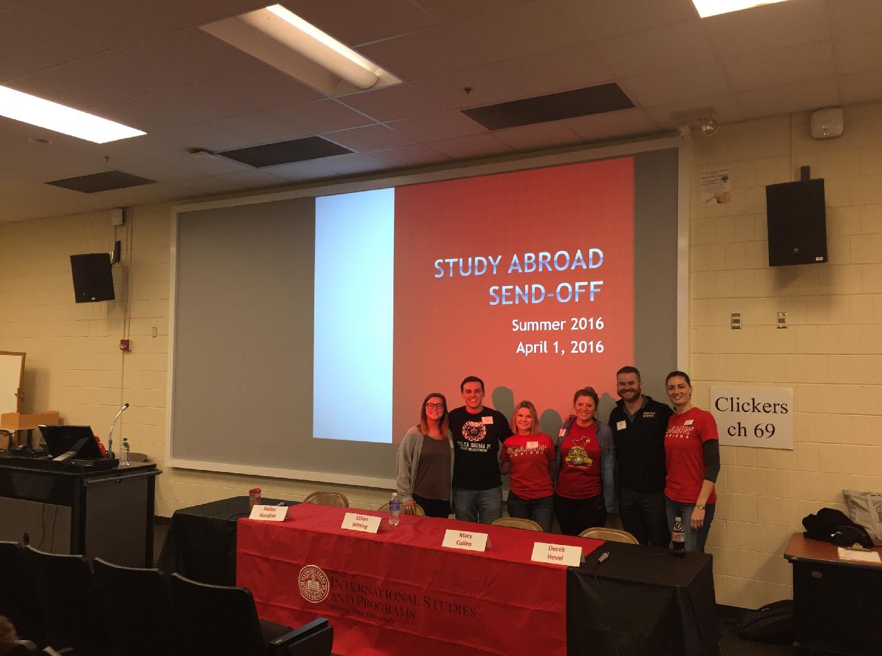 Study Abroad ambassadors pose