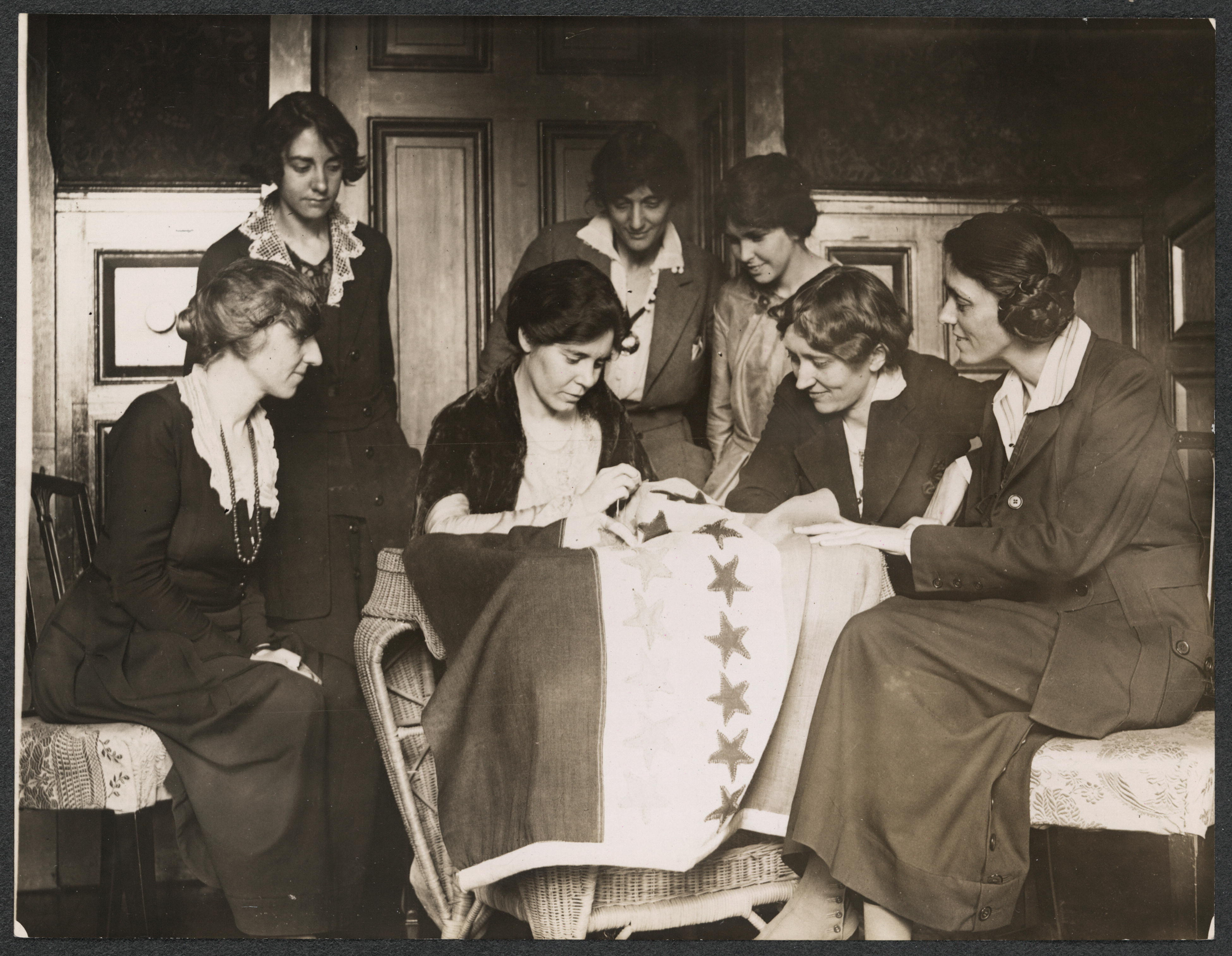 Image of Alice Paul and activists