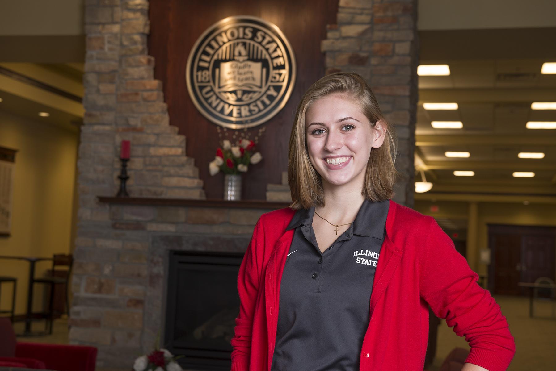 Beth Geistlinger poses inside Alumni Center