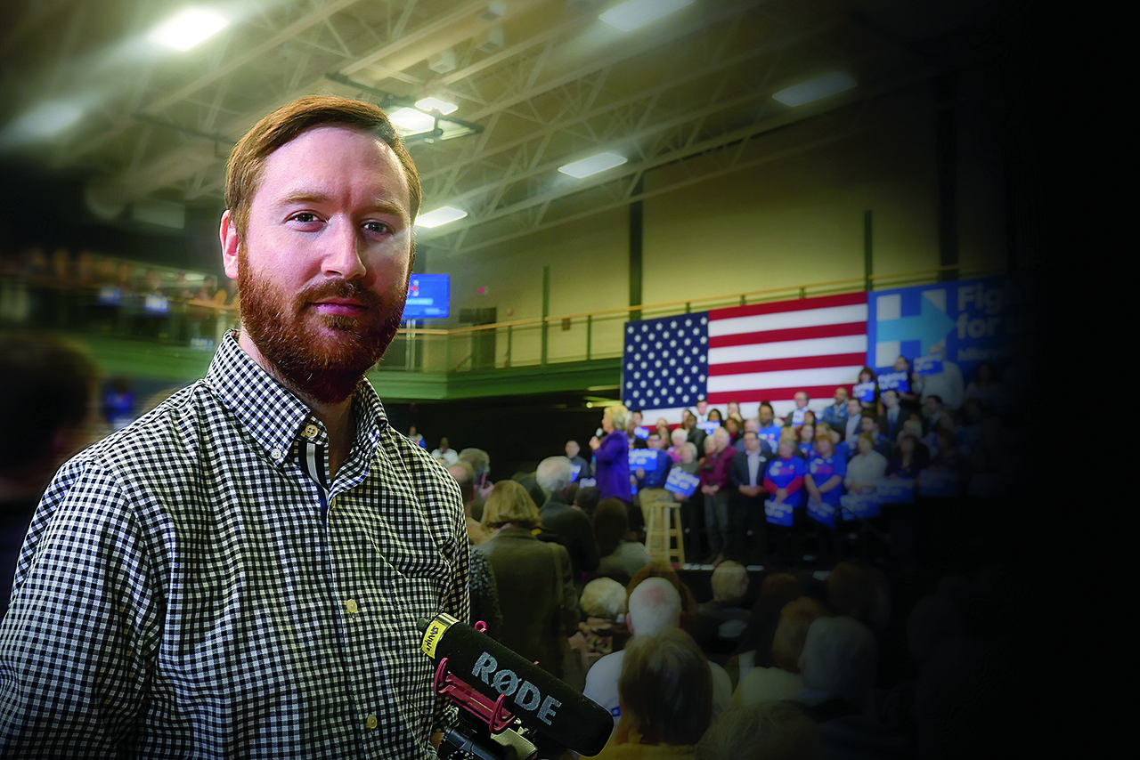 Griffin Hammond at a political rally