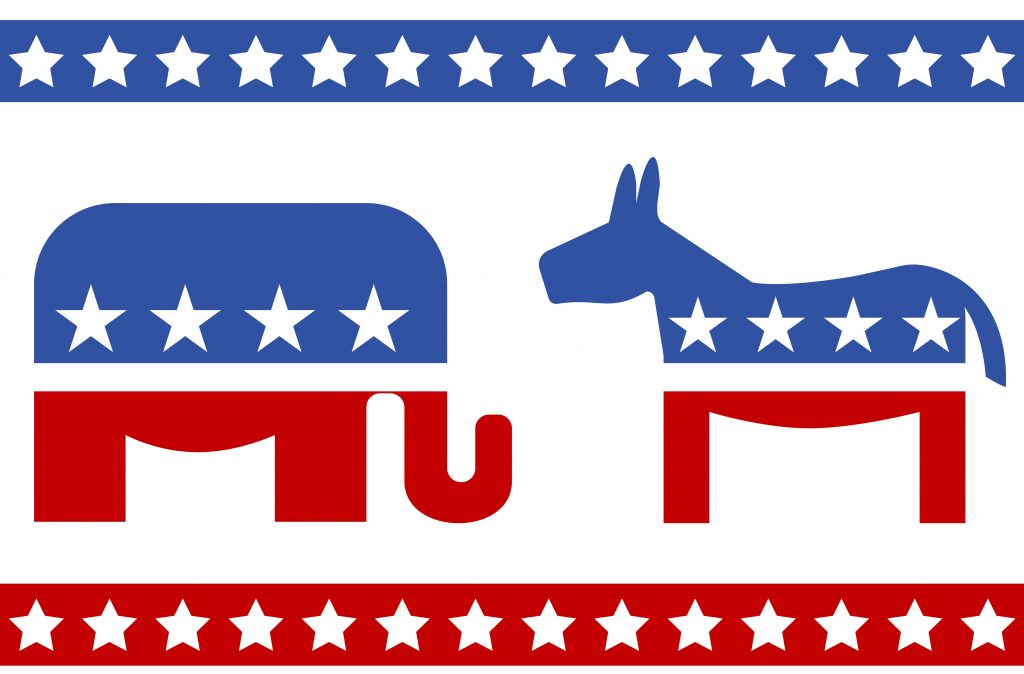 image from elections , donkey and elephant