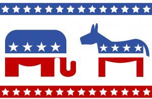 image form elections , donkey and elephant