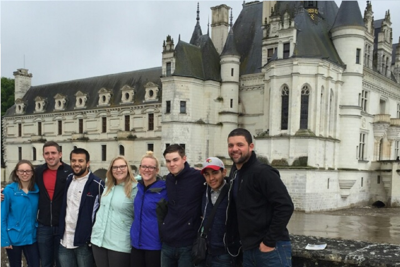 Illinois State Study Abroad students in the Loire Valley, France
