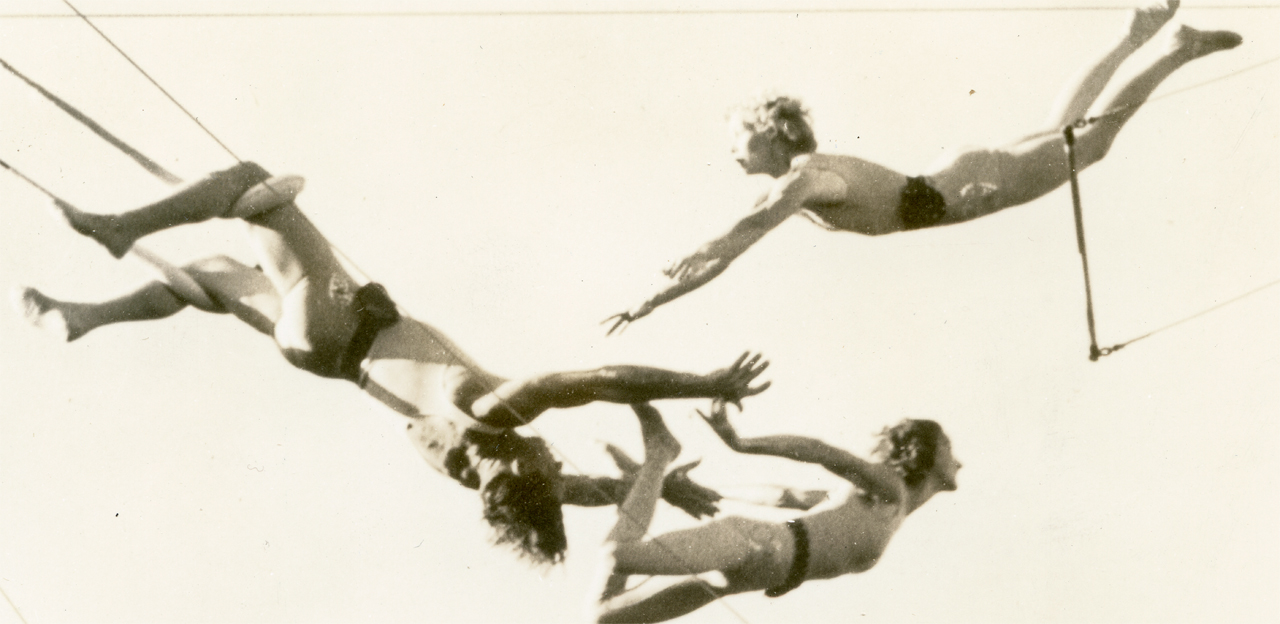 Image of the Flying Valentinos from the Milner Library Special Collections.