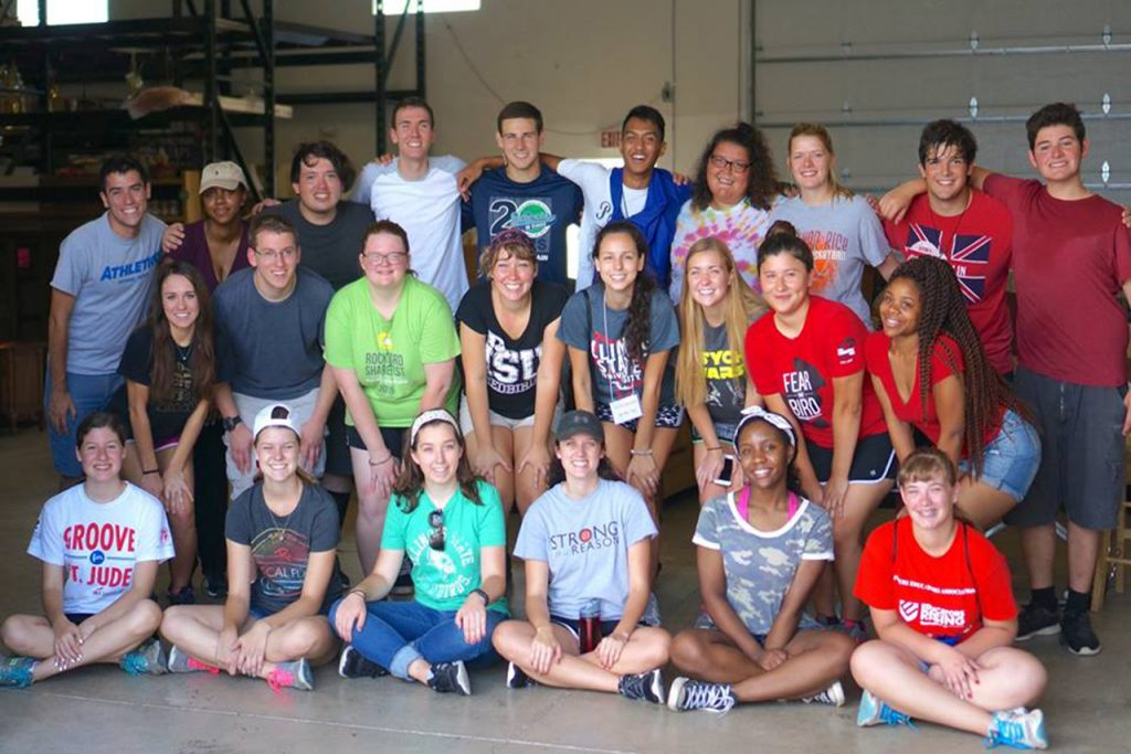 CAMP Lead students pose together