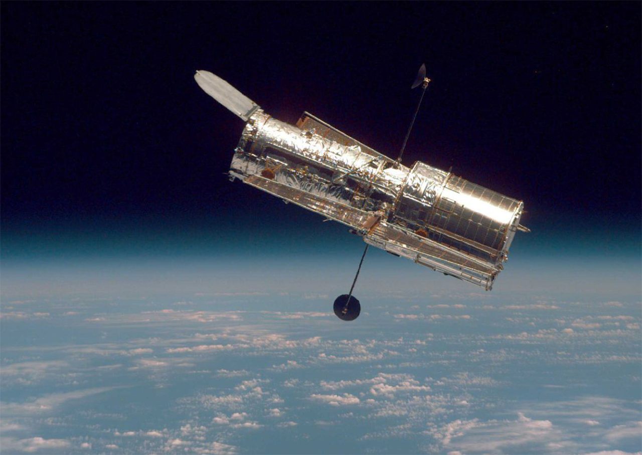 Image of the Hubble Space Telescope from NASA.