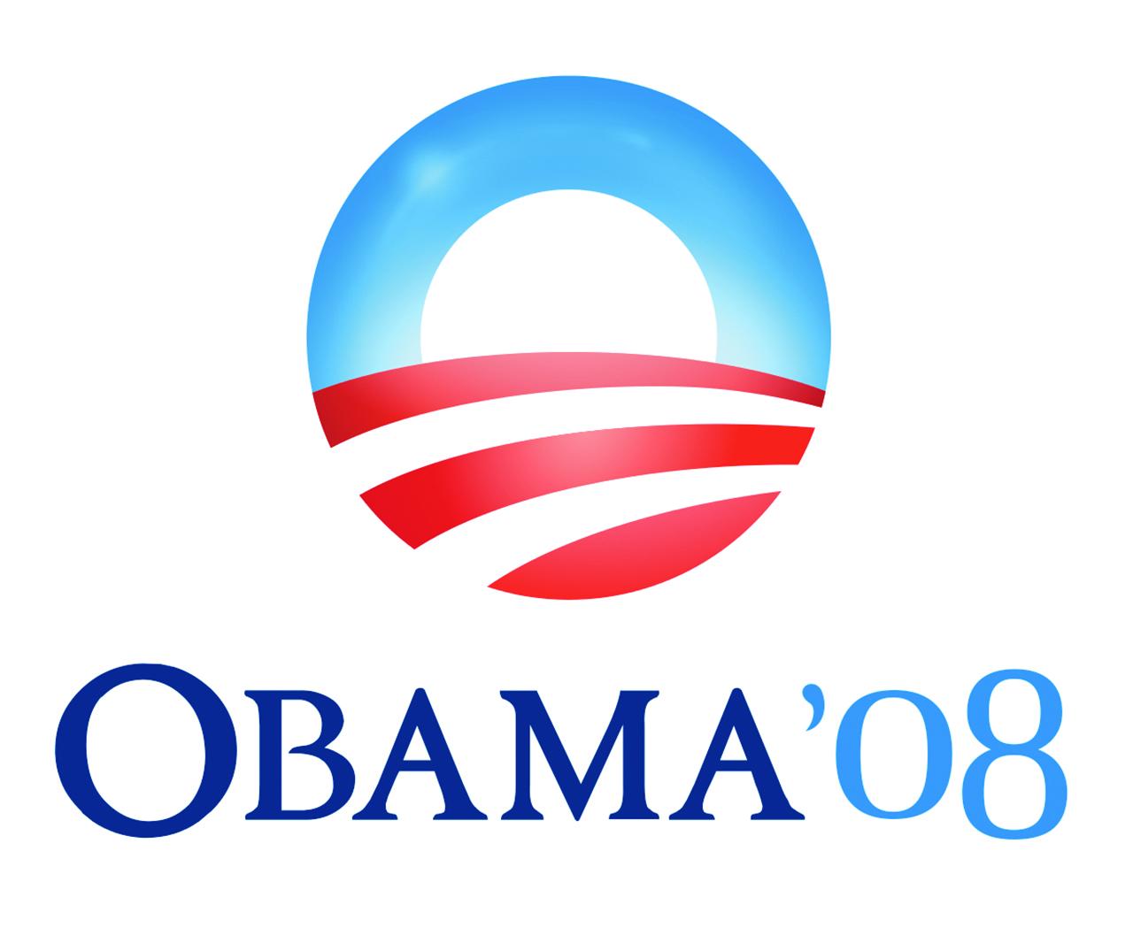 President Barack Obama's 2008 sunrise logo