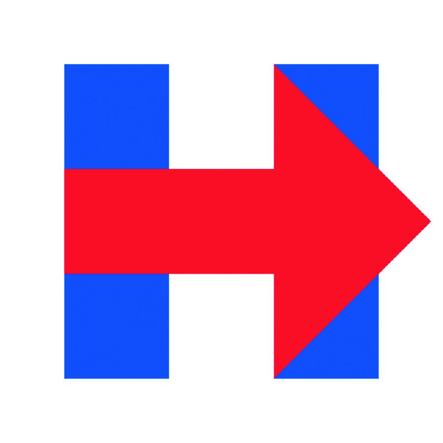 Hillary Clinton's arrow logo