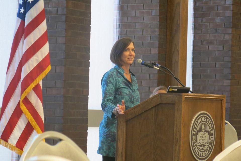 Sheila Crowley at podium