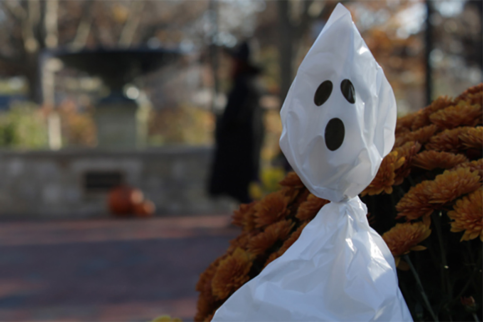 Ghost display at Ewing Manor