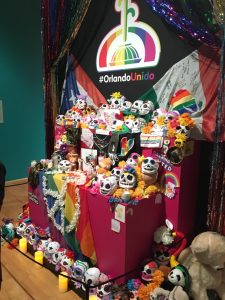 Dia de los Muertos exhibit at the National Museum of Mexican Art in Pilsen; Orlando Pulse shooting ofrenda.
