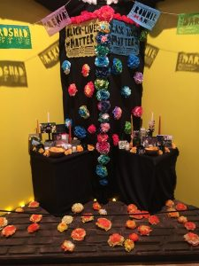 Black Lives Matter ofrenda; Day of the Dead exhibit at the National Museum of Mexican Art in Pilsen.