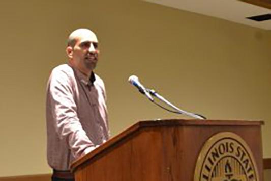 Steven Salaita at podium