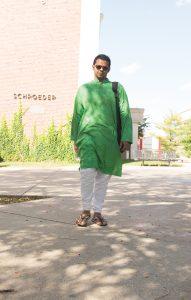 Arafat Kabir walking on campus