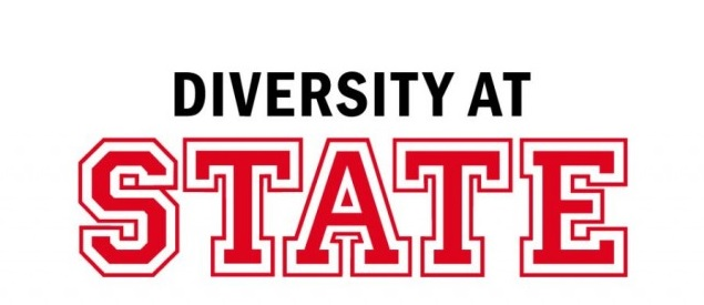 Logo with the words Diversity at State