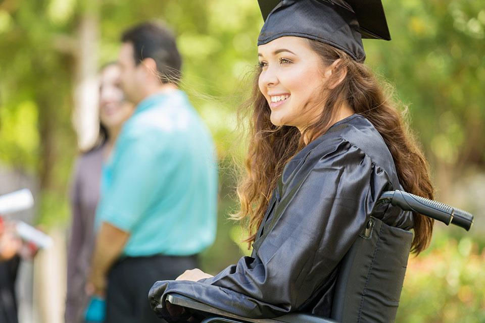 Student in a graduation cap