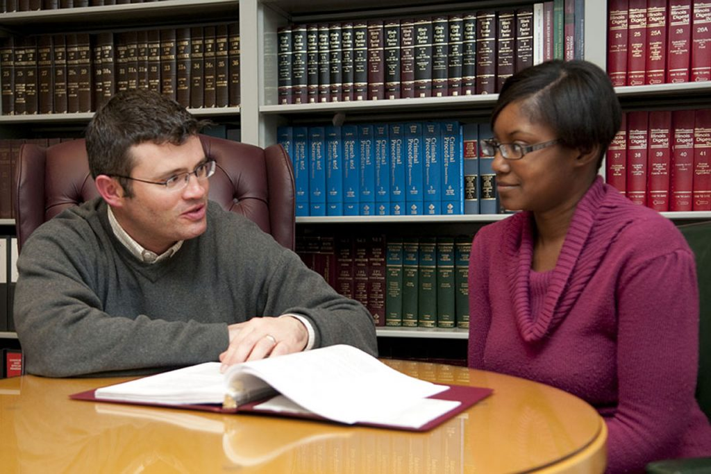 The Students' Attorney provides legal guidance to an Illinois State student.
