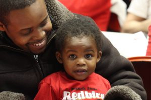 A young Redbird fan enjoying the event.