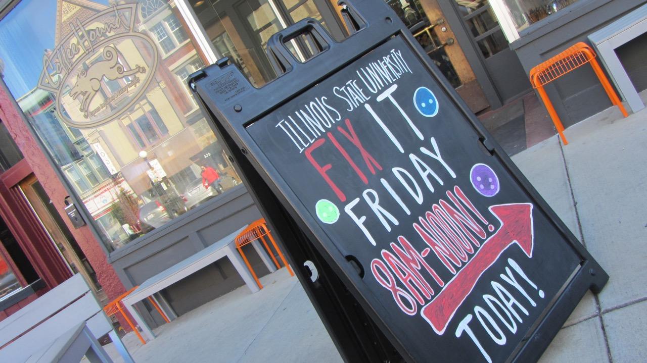 Fix It Friday signage