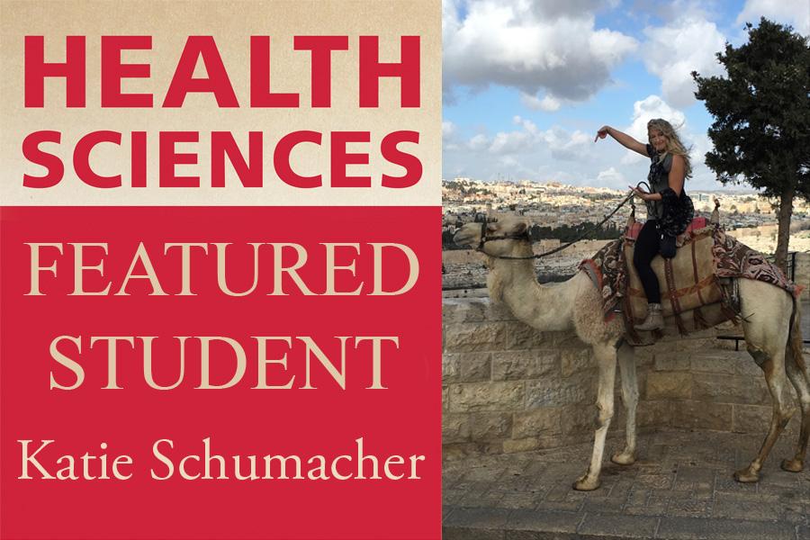 Health Sciences Featured Student Katie Schumacher on a horse