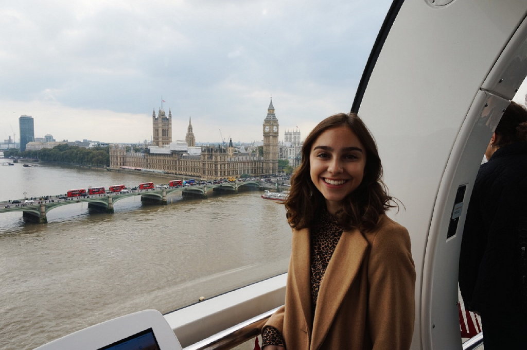 Student poses for a photo on a Study Abroad trip