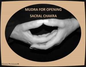 Mudra for opening sacral chakra