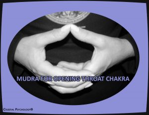 Mudra for opening throat chakhra