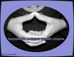 Mudra for opening throat chakhra