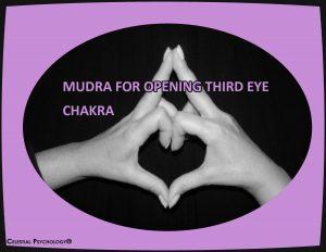 Mudra for opening third eye chakra