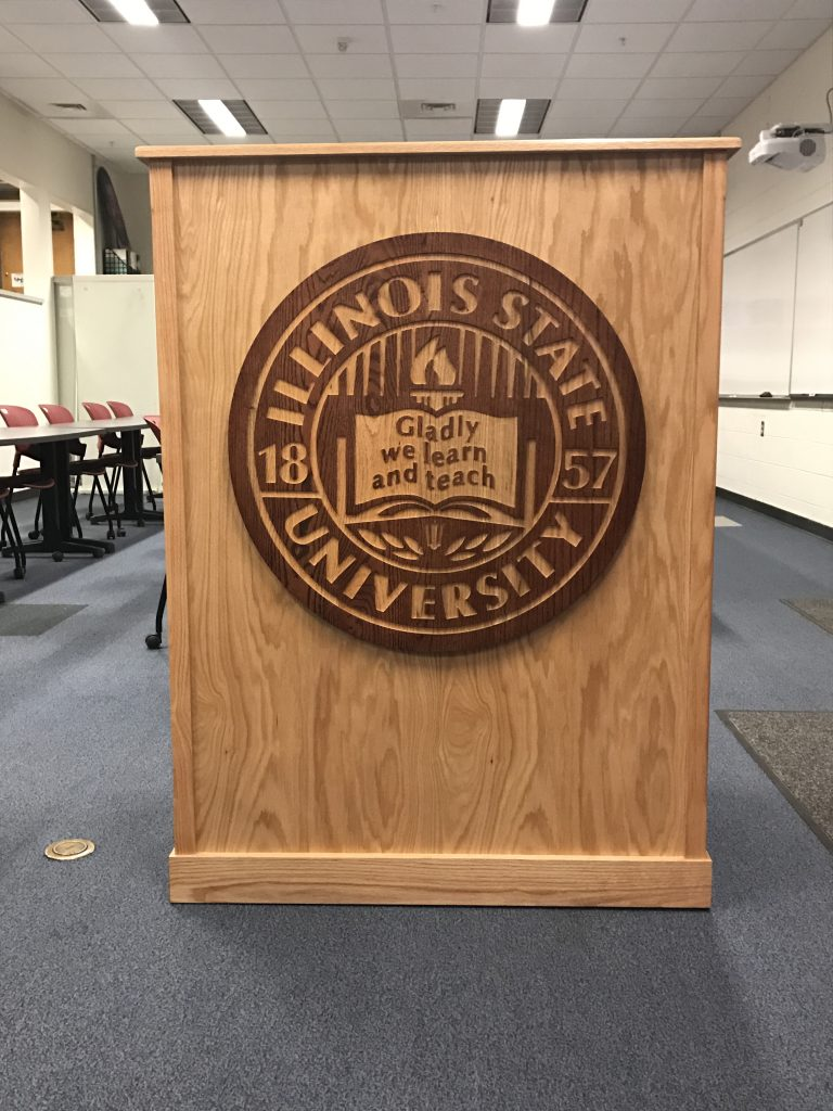 image of the New commencement podium