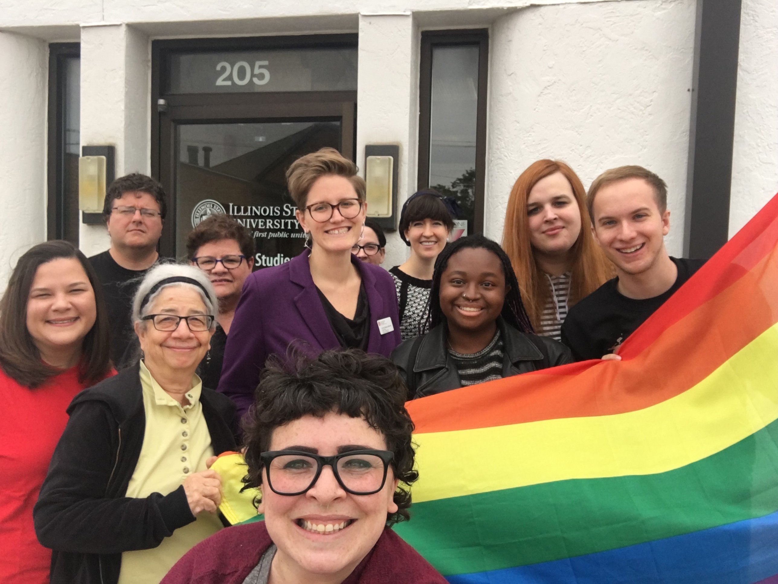 image of Students and faculty of the LGBT/Queer Studies and Services Institute.