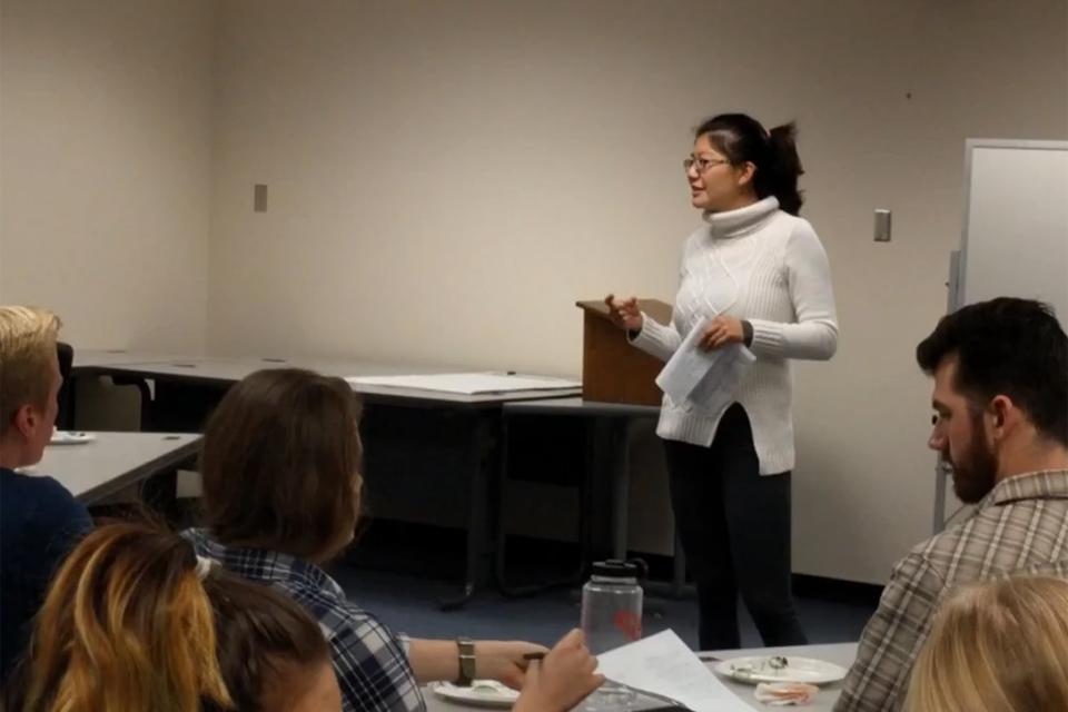 Monalisa Kulkarni speaks to a class