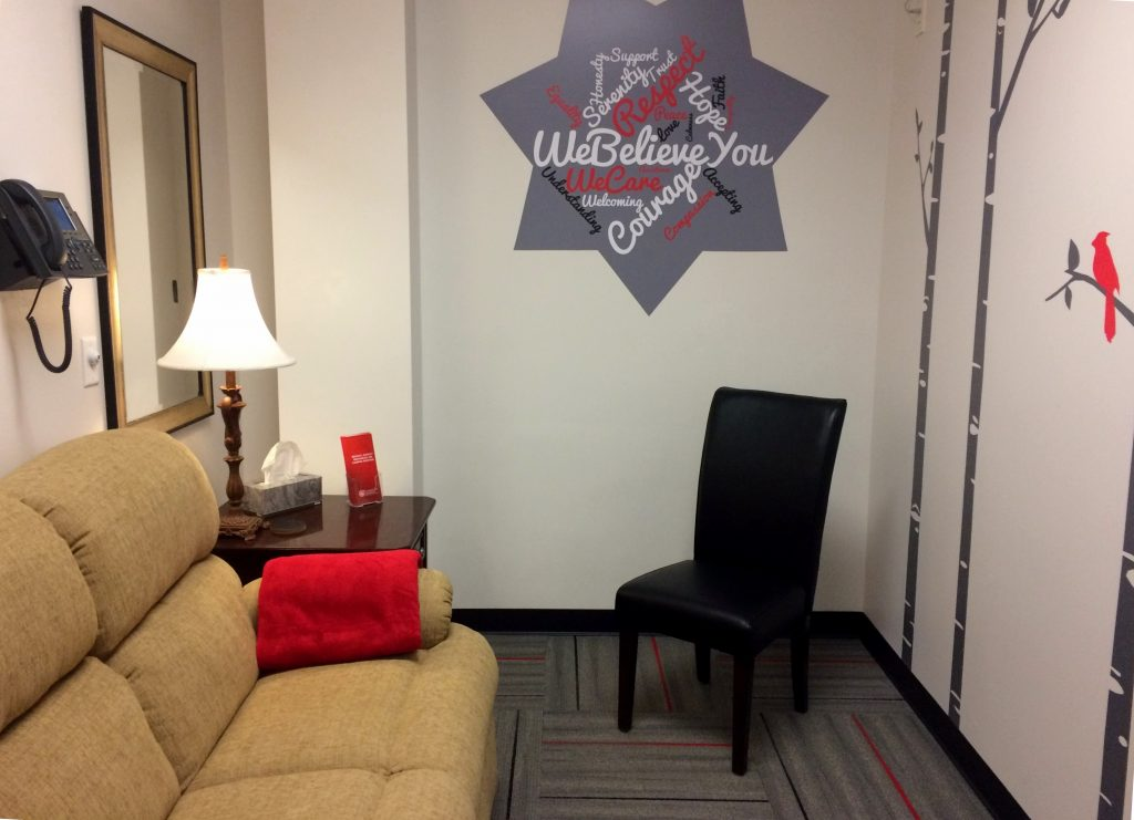 Photo of ISUPD soft interview room