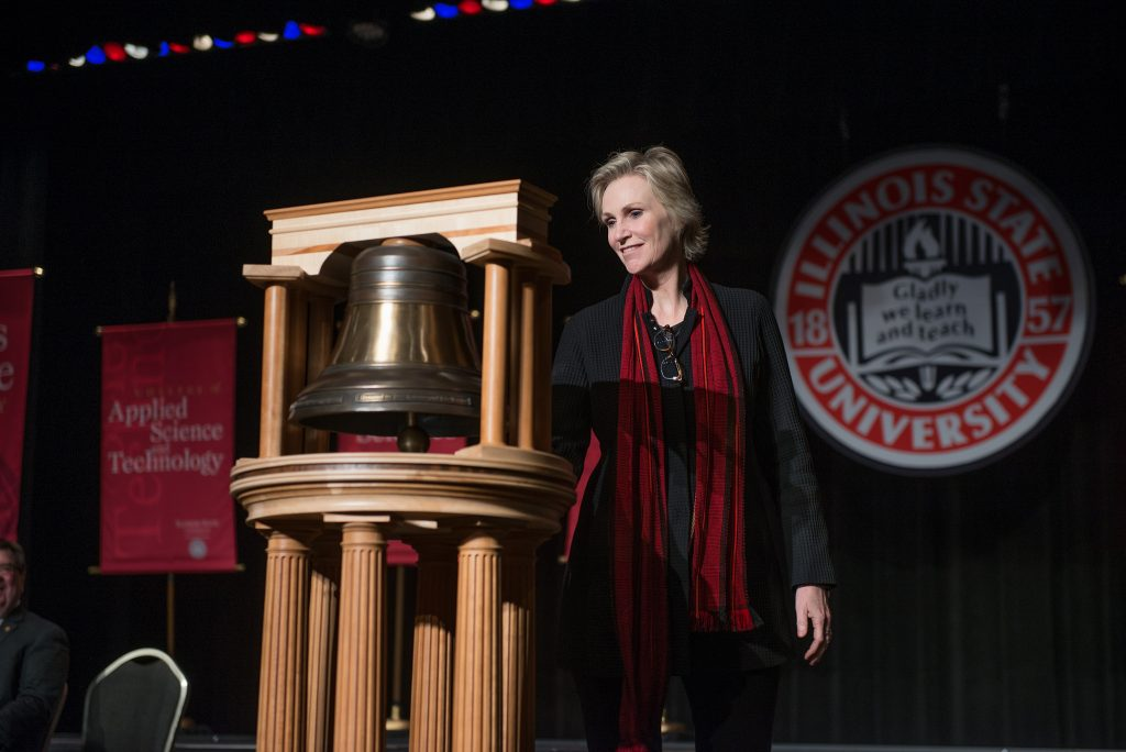 Jane Lynch at the Bell Ringing Ceremony