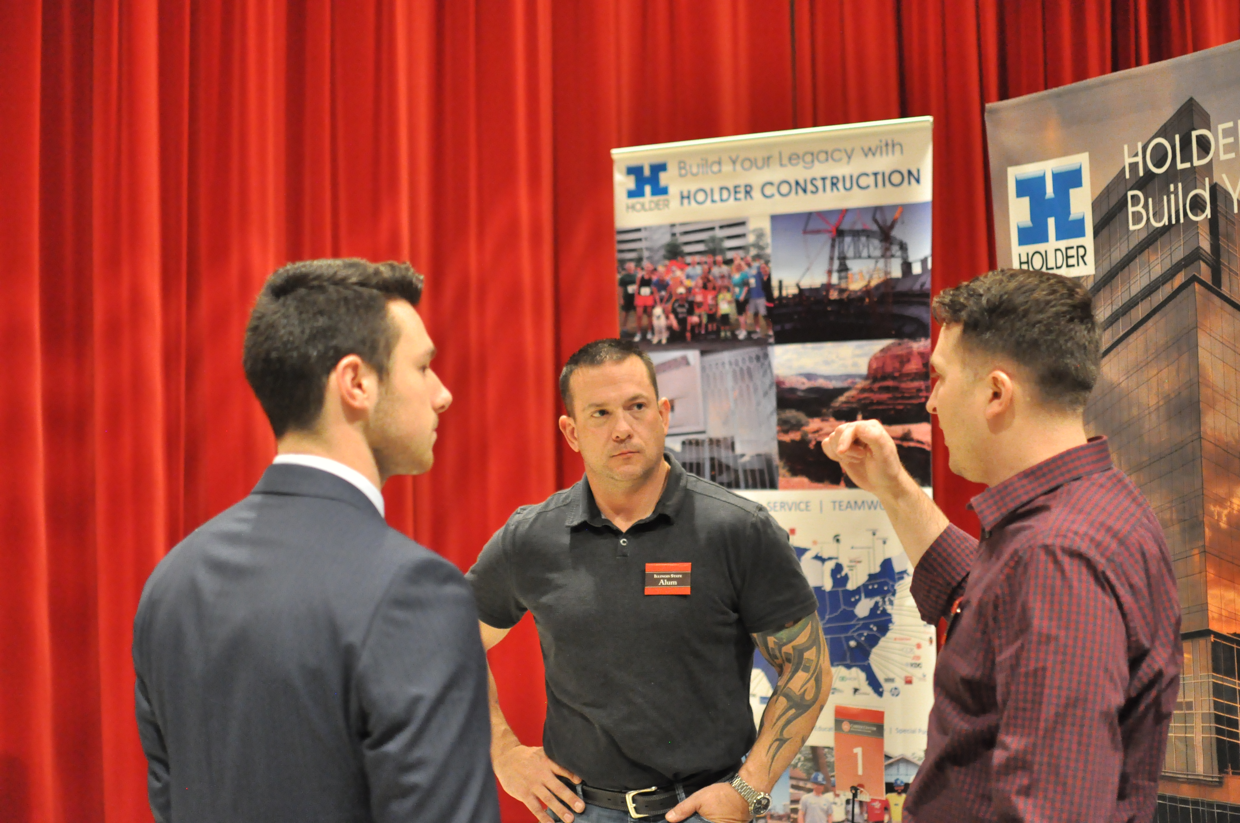 Casey Kelly and Chad Morehouse recruiting for Holder Construction