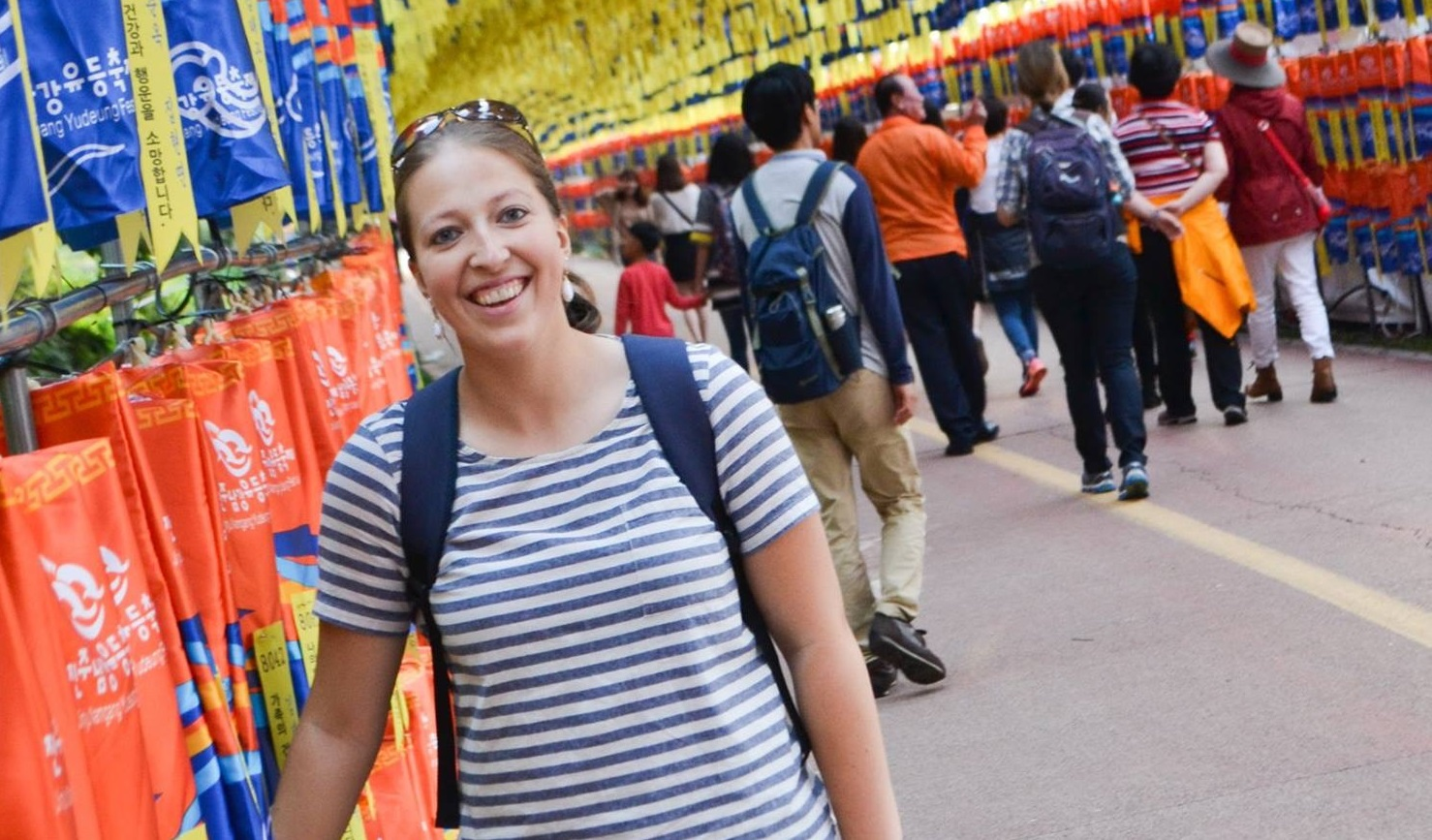 Hillary Veitch poses at Lantern Festival