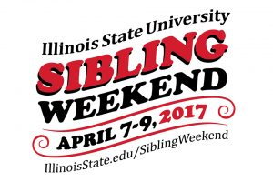 Illinois State University Sibling Weekend log with Web address and dates