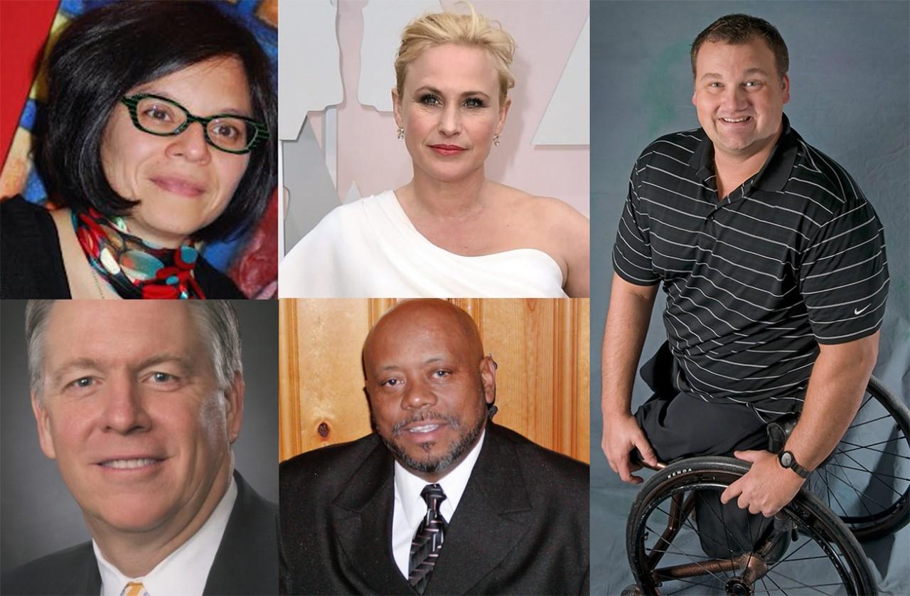 Pictured from left to ight: Mariana Ortega, Patricia Arquette, Matt Glowacki, Steve Hagge, and Alvis Martin