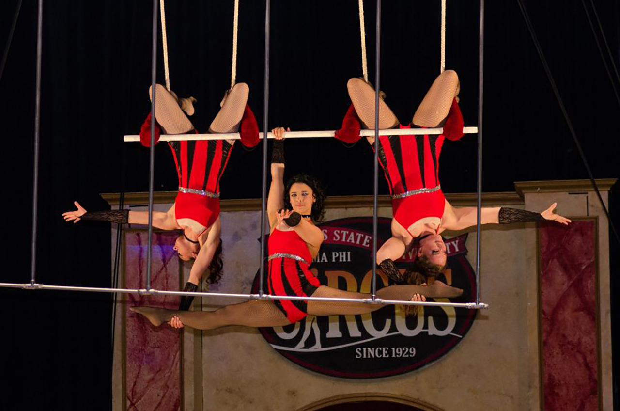 image of The Gamma Phi Circus in 2015.